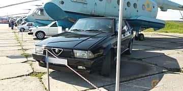 Front/Side  of Alfa Romeo 75 2.0 Manual, 145ps, 1991 at Old Car Land no.1 2019