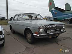 Front/Side  of GAZ GAZ-24 2.4 Manual, 95ps, 1972 at Old Car Land no.2 2017