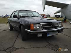 Front/Side  of Opel Commodore 4-door 2.5 Automatic, 115ps, 1978 at Old Car Land no.2 2017