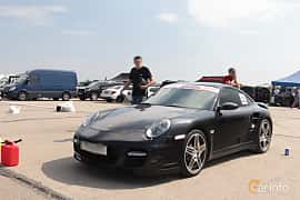 Front/Side  of Porsche 911 Turbo 3.8 H6 4 500ps, 2010 at Proudrs Drag racing Poltava 2019