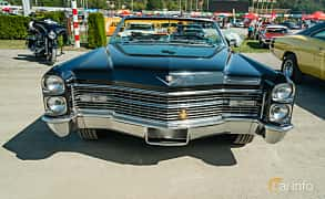 Front  of Cadillac De Ville Convertible 7.0 V8 OHV Hydra-Matic, 345ps, 1966 at Stockholm Vintage & Sports Car meet 2019