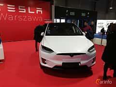 Front  of Tesla Model X 90D 90 kWh AWD Single Speed, 423ps, 2018 at Warsawa Motorshow 2018