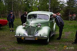 Front/Side  of Hudson 112 Touring Sedan 2.9 Manual, 87ps, 1939 at Onsdagsträffar på Gammlia Umeå 2019 vecka 23