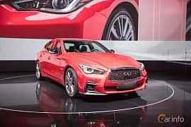 Front/Side  of Infiniti Q50S 3.0 V6 Automatic, 405ps, 2017 at Geneva Motor Show 2017