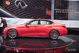 Side  of Infiniti Q50S 3.0 V6 Automatic, 405ps, 2017 at Geneva Motor Show 2017