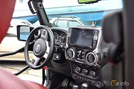 Interior of Jeep Wrangler Unlimited 3.8 V6 4WD Automatic, 199ps, 2011 at Old Car Land no.1 2019