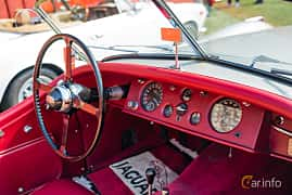 Interior of Jaguar XK120 Roadster 3.4 Manual, 162ps, 1952 at Sportbilsklassiker Stockamöllan 2019