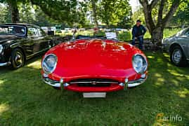 Front  of Jaguar E-Type Roadster 3.8 XK Manual, 269ps, 1963 at Sportbilsklassiker Stockamöllan 2019