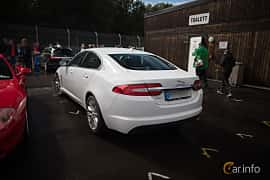 Back/Side of Jaguar XF 2.2 TDi4 Automatic, 200ps, 2015 at Autoropa Racing day Knutstorp 2015