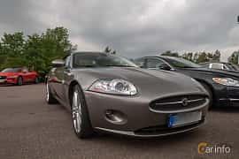 Front/Side  of Jaguar XK Convertible 3.5 V8 Automatic, 258ps, 2009 at Joe's garage 2019´s stora Jaugurevent