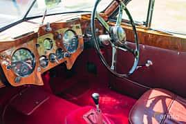 Interior of Jaguar XK140 3.4 Manual, 193ps, 1955 at Sportbilsklassiker Stockamöllan 2019