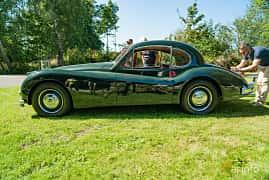 Side  of Jaguar XK140 3.4 Manual, 193ps, 1955 at Sportbilsklassiker Stockamöllan 2019