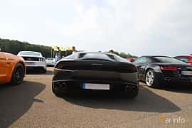 Back of Lamborghini Huracán LP 610-4 5.2 V10  DCT, 610ps, 2015 at Autoropa Racing day Knutstorp 2019