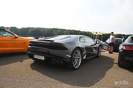Back/Side of Lamborghini Huracán LP 610-4 5.2 V10  DCT, 610ps, 2015 at Autoropa Racing day Knutstorp 2019