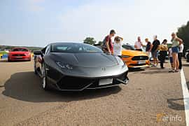 Front/Side  of Lamborghini Huracán LP 610-4 5.2 V10  DCT, 610ps, 2015 at Autoropa Racing day Knutstorp 2019