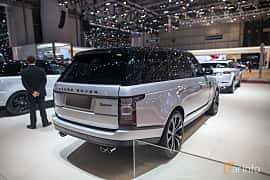Back/Side of Land Rover Range Rover 5.0 V8 4WD Automatic, 550ps, 2017 at Geneva Motor Show 2017