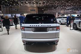 Back of Land Rover Range Rover Sport SVR 5.0 V8 4WD Automatic, 550ps, 2017 at Geneva Motor Show 2017