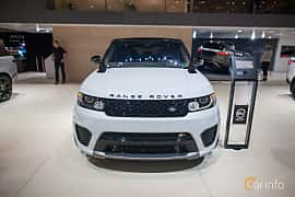 Front  of Land Rover Range Rover Sport SVR 5.0 V8 4WD Automatic, 550ps, 2017 at Geneva Motor Show 2017