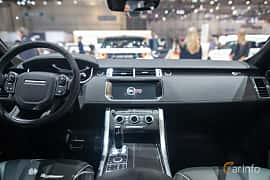 Interior of Land Rover Range Rover Sport SVR 5.0 V8 4WD Automatic, 550ps, 2017 at Geneva Motor Show 2017