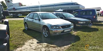 Front/Side  of Lexus IS 200 2.0 Manual, 155ps, 2000 at Old Car Land no.1 2019