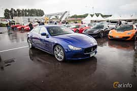 Front/Side  of Maserati Ghibli S Q4  Automatic, 410ps, 2015 at Autoropa Racing day Knutstorp 2015