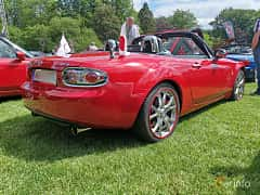 Back/Side of Mazda MX-5 Soft-top 2.0 Manual, 160ps, 2006 at Sofiero Classic 2019