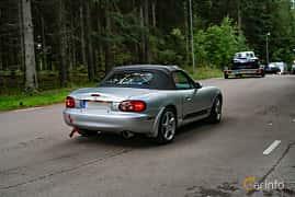 Back/Side of Mazda MX-5 1.8 Manual, 146ps, 2002 at Svenskt sportvagnsmeeting 2019