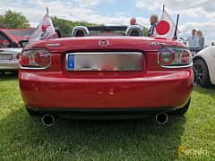 Back of Mazda MX-5 Soft-top 2.0 Manual, 160ps, 2006 at Sofiero Classic 2019