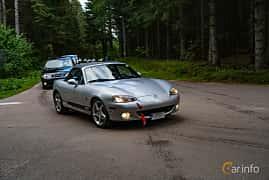 Front/Side  of Mazda MX-5 1.8 Manual, 146ps, 2002 at Svenskt sportvagnsmeeting 2019