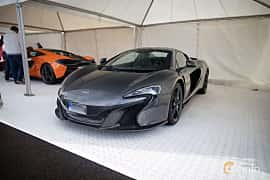 Front/Side  of McLaren 650S Spider 3.8 V8 DCT, 650ps, 2015 at Autoropa Racing day Knutstorp 2015