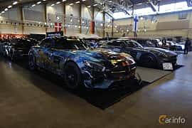 Fram/Sida av Mercedes-Benz AMG GT S  AMG Speedshift DCT, 510ps, 2015 på Bilsport Performance & Custom Motor Show 2019