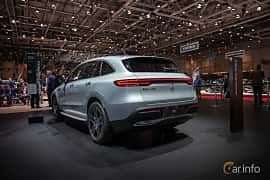 Back/Side of Mercedes-Benz EQC 400  Single Speed, 408ps, 2019 at Geneva Motor Show 2019
