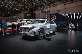 Front/Side  of Mercedes-Benz EQC 400  Single Speed, 408ps, 2019 at Geneva Motor Show 2019
