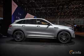 Side  of Mercedes-Benz EQC 400  Single Speed, 408ps, 2019 at Geneva Motor Show 2019