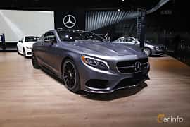 Fram/Sida av Mercedes-Benz S 500 4MATIC Coupé 4.6 V8 4MATIC 7G-Tronic Plus, 455ps, 2017 på North American International Auto Show 2017