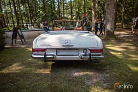 Back of Mercedes-Benz 280 SL  Manual, 170ps, 1969 at Lergöksträffen Ängelholm 2019