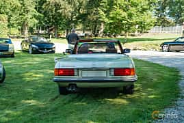 Back of Mercedes-Benz 350 SL  Automatic, 195ps, 1975 at Sportbilsklassiker Stockamöllan 2019
