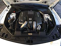 Engine compartment  of Mercedes-Benz SL 63 AMG 5.5 V8 , 585ps, 2015