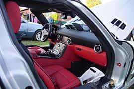 Interior of Mercedes-Benz SLS AMG Coupé 6.3 V8 AMG Speedshift DCT, 571ps, 2011 at Onsdagsträffar på Gammlia v.33 / 2018
