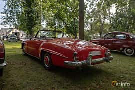 Back/Side of Mercedes-Benz 190 SL Roadster  Manual, 105ps, 1958 at Billesholms Veteranbilsträff 2019 augusti