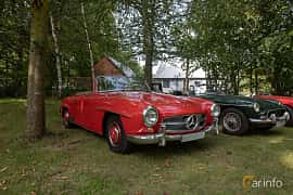 Front/Side  of Mercedes-Benz 190 SL Roadster  Manual, 105ps, 1958 at Billesholms Veteranbilsträff 2019 augusti
