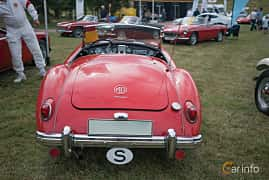 Back of MG MGA Twin-Cam Coupé 1.6 Manual, 110ps, 1960 at Thulinträffen 2017