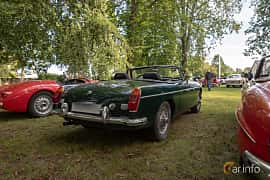 Back/Side of MG MGB Roadster 1.8 Manual, 95ps, 1970 at Billesholms Veteranbilsträff 2019 augusti