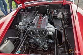 Motorutrymme av MG Midget 1.1 Manual, 60ps, 1964 på Vallåkraträffen 2019
