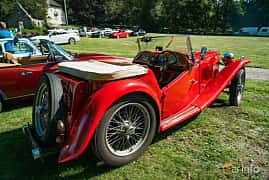 Back/Side of MG TC Midget 1.25 Manual, 54ps, 1949 at Sportbilsklassiker Stockamöllan 2019