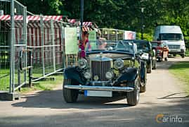 Front  of MG TD Midget 1.25 Manual, 57ps, 1950 at Ronneby Nostalgia Festival 2019
