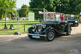 Front/Side  of MG TD Midget 1.25 Manual, 57ps, 1950 at Ronneby Nostalgia Festival 2019
