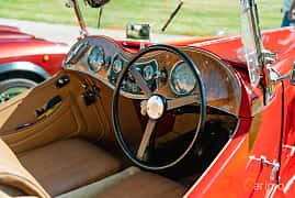 Interior of MG TC Midget 1.25 Manual, 54ps, 1949 at Sportbilsklassiker Stockamöllan 2019