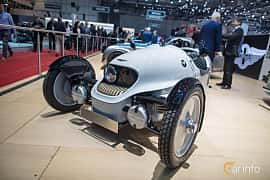 Front/Side  of Morgan EV3 Electric Single Speed, 59ps, 2018 at Geneva Motor Show 2018