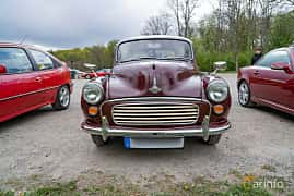 Front  of Morris Minor 1000 Traveller 1.1 Manual, 48ps, 1970 at Fest För Franska Fordon  på Taxinge slott 2019